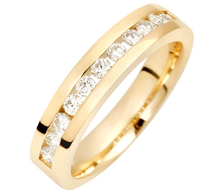 11 Brillanten zus.ca.0,50ct. Weiß/lupenrein Memoire-Ring Gold 585