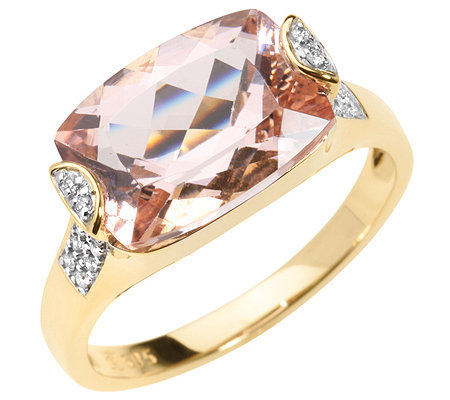 Morganit AAA/3,50ct 30 Brill.0,11ct Ring Gold 750