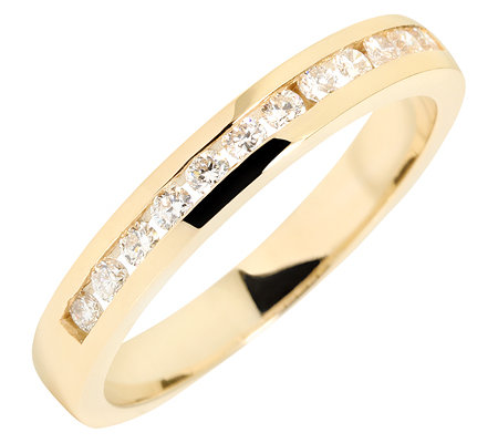 12 Brillanten zus.ca.0,30ct. Weiß/SI Memoire-Ring Gold 585