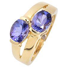 Tansanit AAA/2,50ct Ovalschliff Ring Gold 585