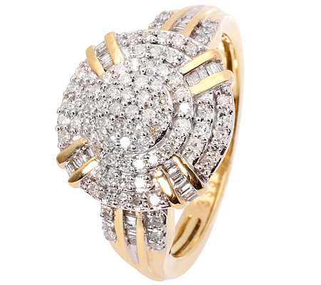 GLAMOUR DIAMONDS 113 Diamanten zus.ca.0,50ct. Weiß/P1 Ring, Gold 333