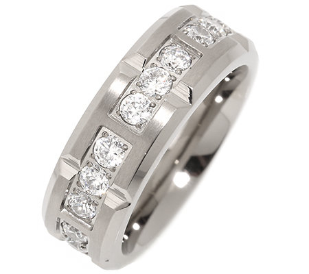 DIAMONIQUE®® TITAN mind.21Steine =1,05ct Eternity-Ring mattiert