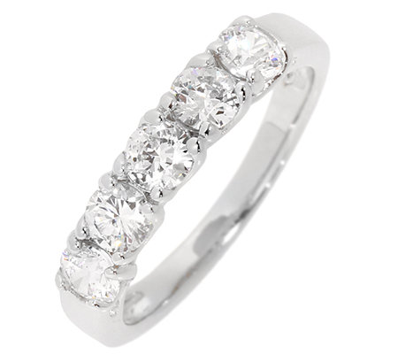 DIAMONIQUE® EPIPHANY 5 Steine = 1,00ct. Rivière-Ring Silber 925