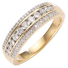 CANADIAN DIAMONDS 57 Brillanten zus.ca.0,50ct Ring Gold 750