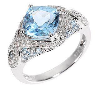 Ring Topas Diamanten