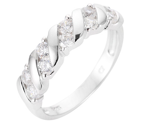 DIAMONIQUE® = 0,50ct Brillantschliff Ring Silber rhodiniert