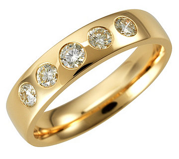 Ring 5 Brillanten Gold - 610757