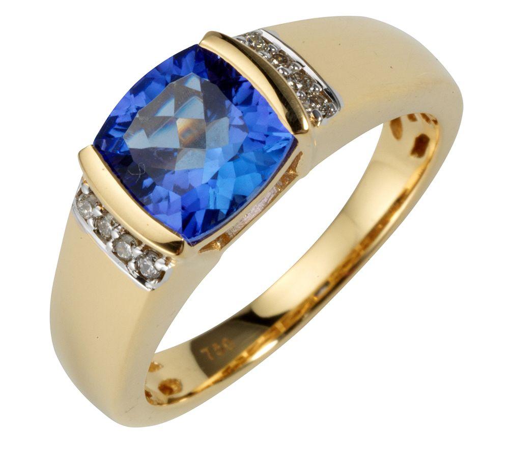 1st class tansanit aaa / 1,50ct ring millenium-cut gold 750 — qvc.de, Badezimmer ideen