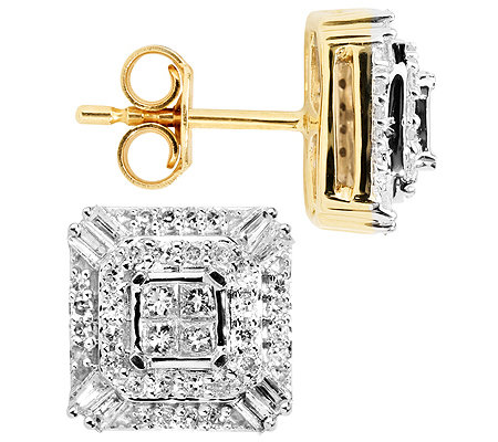 GLAMOUR DIAMONDS 88 Diamanten zus.ca.0,50ct. Ohrstecker Gold 333
