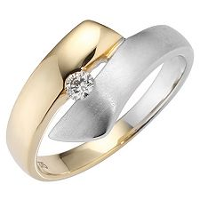 FIRST DIAMOND 1 Brillant g.W/P1 ca.0,09ct Ring Gold 375