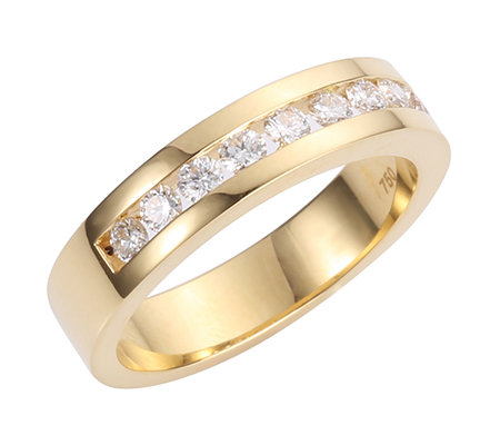 10 Brillanten zus.ca.0,50ct hf.Weiß/lupenrein Memoire-Ring Gold 750