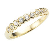 DIAMONIQUE® GOLD 375 Eternity-Ring = 0,30ct Brillantschliff
