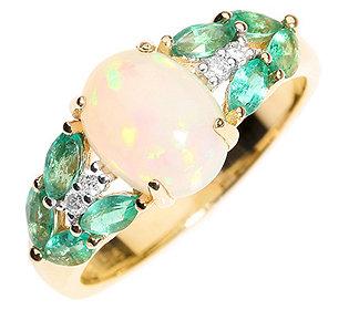 Ring Opal Smaragde