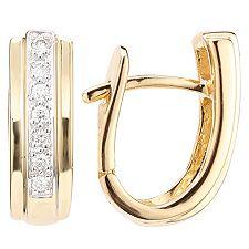 FIRST DIAMOND 14 Brillanten zus.ca.0,15ct Creolen Gold 375