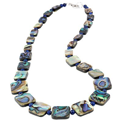 Collier Abalone Lapis - 640963