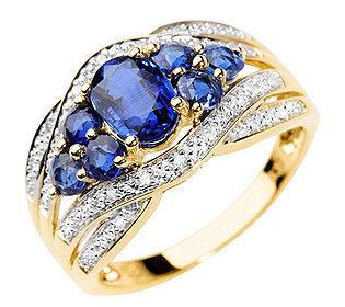 Ring Kyanit Diamanten