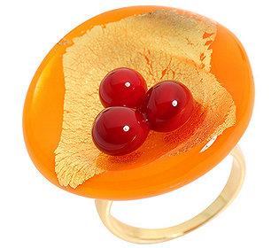 Ring 3 Glas-Perlen