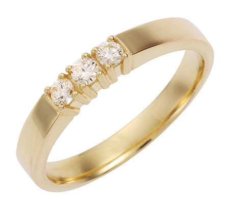 3 Brillanten zus.ca.0,20ct Weiß/lupenrein Ring Gold 585