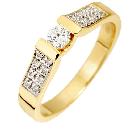 FIRST DIAMOND 17 Diamanten W/P1 zus.ca.0,25ct Ring Gold 333