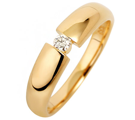 FIRST DIAMOND 1 Brillant ca.0,07ct. get.Weiß/lupenrein Ring, Gold 333