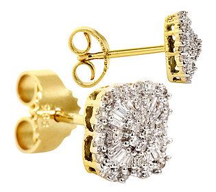 Blüten-Ohrstecker Gold