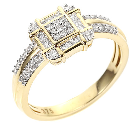GLAMOUR DIAMONDS 53 Diamanten W/P1 zus.ca.0,27ct Ring Gold 375