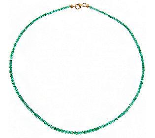 Collier Smaragd-Linsen