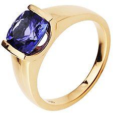 1st Class Tansanit AAA/2,50ct Spann-Optik Ring Gold 750