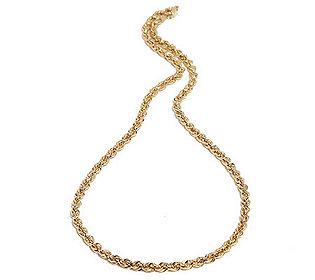 Kordelkette 48 cm Gold