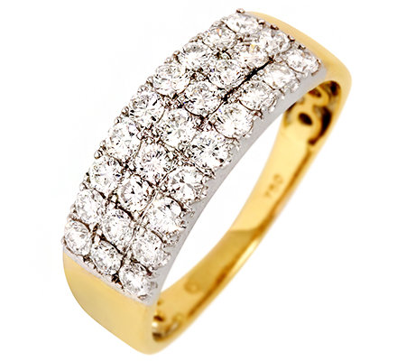 CANADIAN DIAMONDS 27 Brillanten zus.ca.1,00ct Ring Gold 750