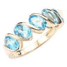 ITINGA Topas Swissblue 2,75ct Ring Gold 375