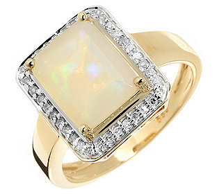 Ring Opal 36 Diamanten