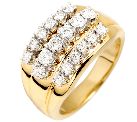 18 Brillanten zus.ca.1,00ct. get.Weiß/lupenrein Cocktail-Ring Gold 585