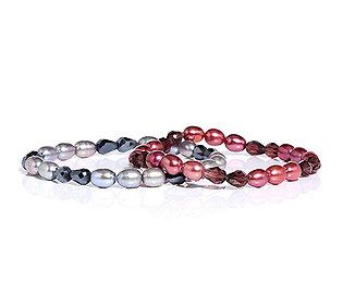 2 Perlen-Armbänder