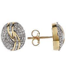 GLAMOUR DIAMONDS 120 Diamanten zus.ca.0,50ct. Ohrstecker Gold 375