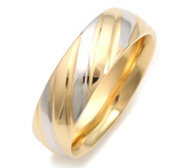 GOLDRAUSCH Gold 585 Band-Ring bicolor
