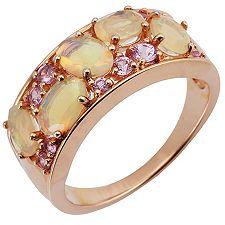 Afrikanischer Opal 1,24ct Pink Saphir Cocktail-Ring Rosegold 585