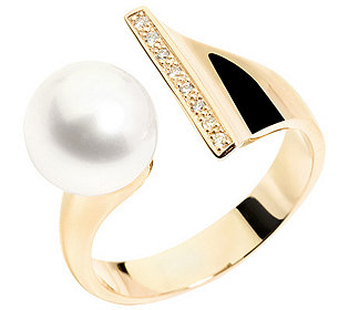 Ring Perle Brillanten