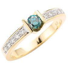FIRST DIAMOND 11 Brillanten zus.ca.0,35ct Ring Gold 375