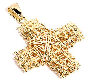 Kreuz-Anhänger vergoldet