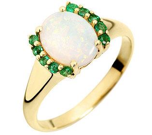 Ring Opal Smaragd