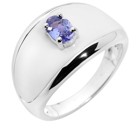 Lavendel Tansanit oval 0,00ct. weisser Achat Cocktail-Ring Silber 925,rhodinier