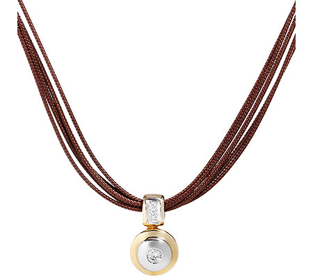 CARA D'OR 3 Brillanten zus.ca.0,15ct. Collier Gold 585