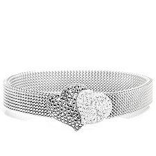 Markasit 82 Steine 61 Kristalle Flex-Armband Silber 925/ Edelstahl