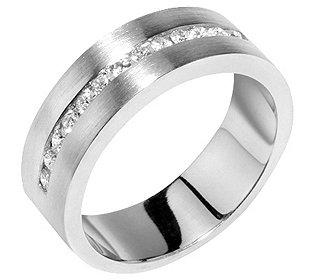 Halb-Eternity-Ring Platin