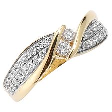 CANADIAN DIAMONDS 36 Brillanten zus.ca.0,52ct Ring Gold 750