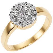 CANADIAN DIAMONDS 19 Brillanten zus.ca.0,50ct Ring Gold 750