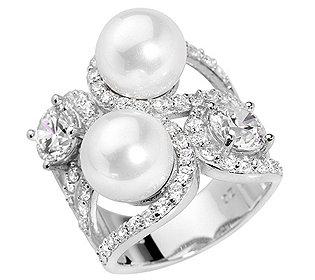 Ring 70 Steine & 2 Perlen