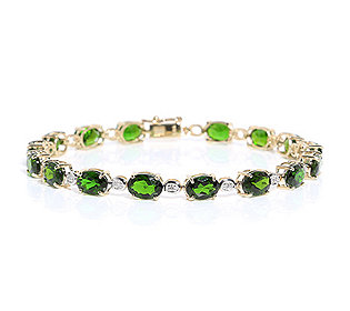 Armband 16 Chromdiopside