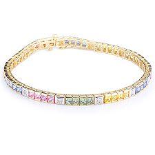 VIVA LAS VEGAS Saphire 6,00ct Diamanten 0,12ct Armband 19cm Gold 375